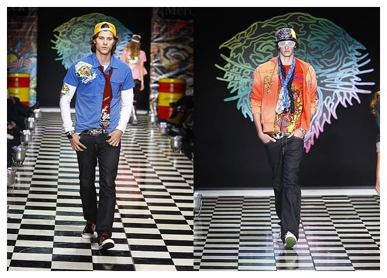 ed hardy christian audigier spring 2009 los angeles fashion week
